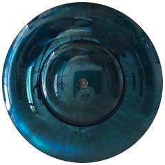 Turquoise Blue Concave Double Mirror by Christophe Gaignon