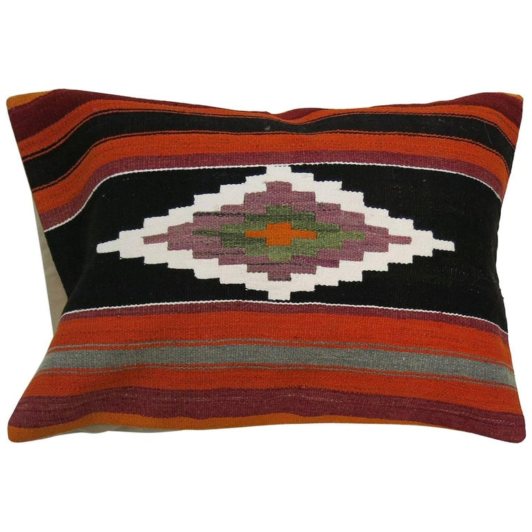 Large Turkish Kilim Pillow For Sale