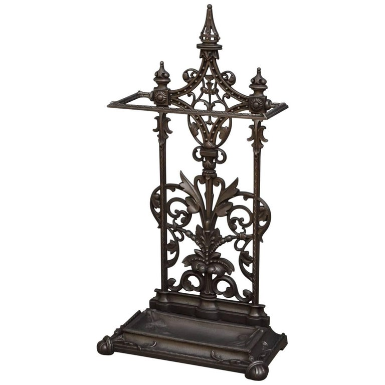 Victorian Cast Iron Umbrella Stand For Sale