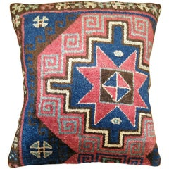 Large Vintage Turkish Konya Rug Pillow