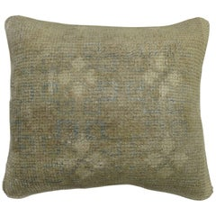 Pale Turkish Oushak Small Rug Pillow