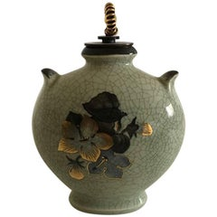 Royal Copenhagen Vase with Bronze Lid by Knud Andersen