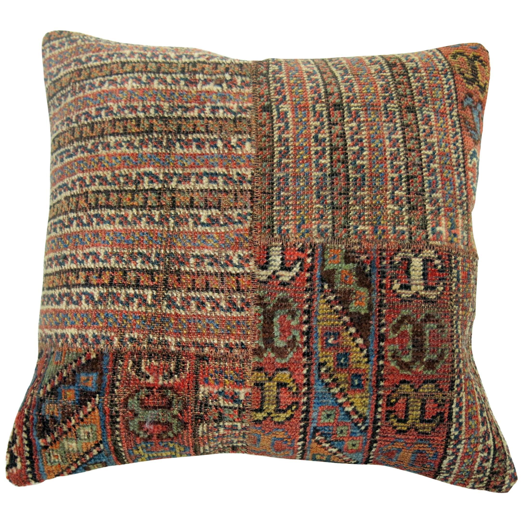 Patchwork Tribal Persian Rug Pillow