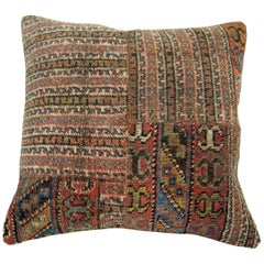 Patchworn Tribal Persian Rug Pillow