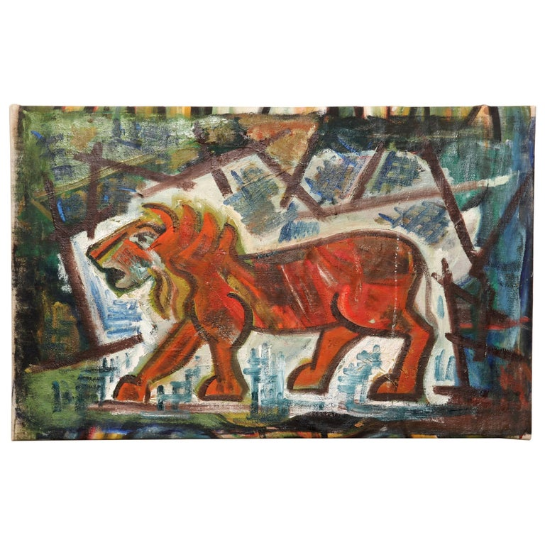 Abstract Lion Painting For Sale