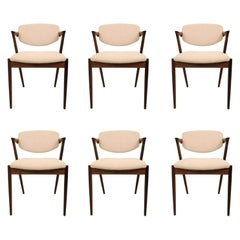 Kai Kristiansen Six Rosewood Dining Chairs Model 42