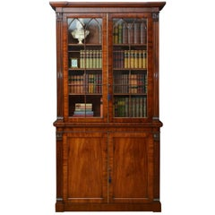 Fine Quality William IV Mahogany Bookcase