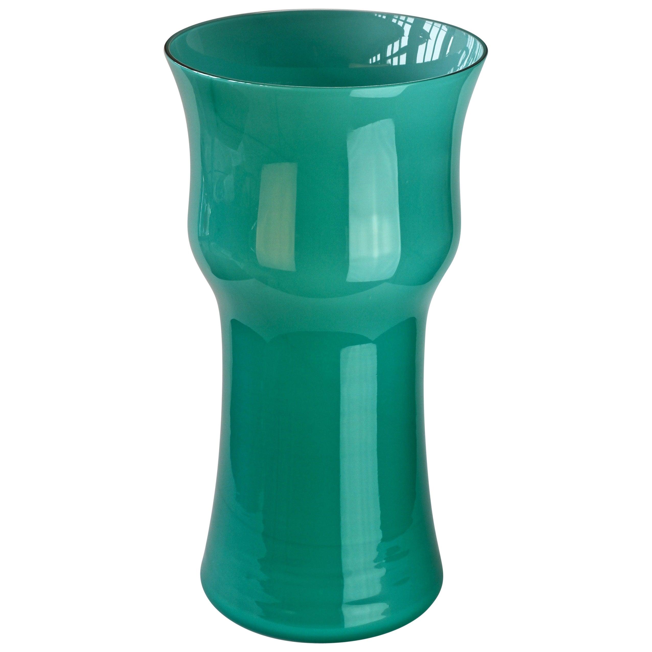 Monumental 18 Inch Tall Cenedese Italian Murano Glass Centrepiece Vase