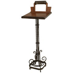 French Art Deco Wrought Iron Lectern