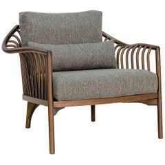 Flow Brazilian Contemporary Wood Armchair by Lattoog