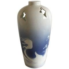 Royal Copenhagen Art Nouveau Unique Pierced Vase by Marianne Høst from 1895