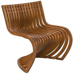 Pantosh Brazilian Contemporary Wood Easychair by Lattoog