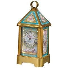 Le Roy & Fils Rare Miniature Carriage Timepiece of Lantern Form