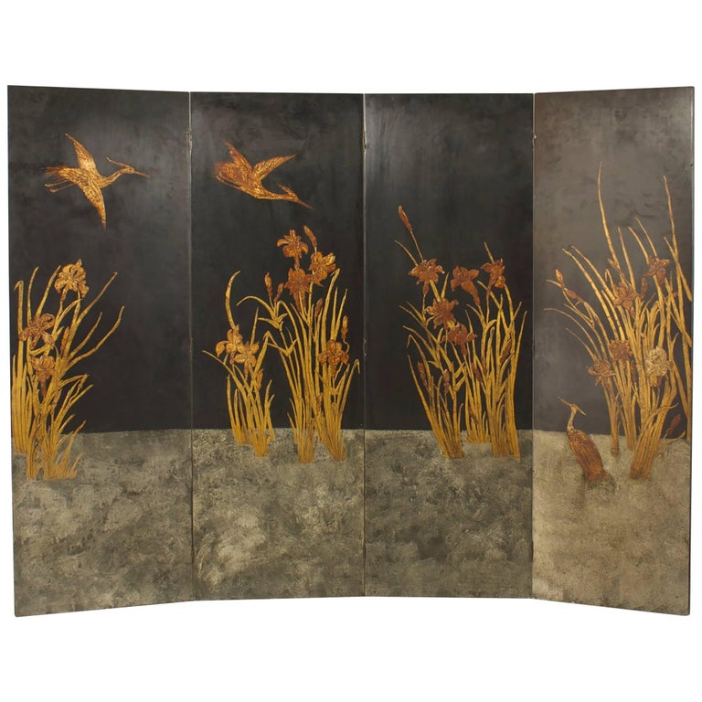 French Art Deco Four Fold Screen