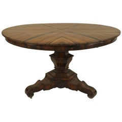 English William IV circa 1835 Zebra Wood Center Table
