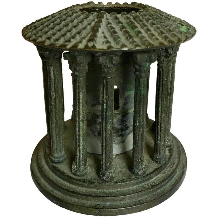 Grand Tour Bronze Model of the Temple of Vesta, Rome