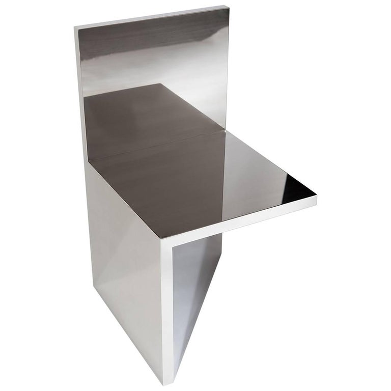 And Here I Sit in Polished Stainless Steel