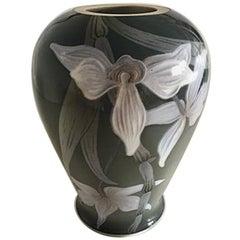 Royal Copenhagen Art Nouveau Unique Vase by Jenny Meyer #6977 from 1899