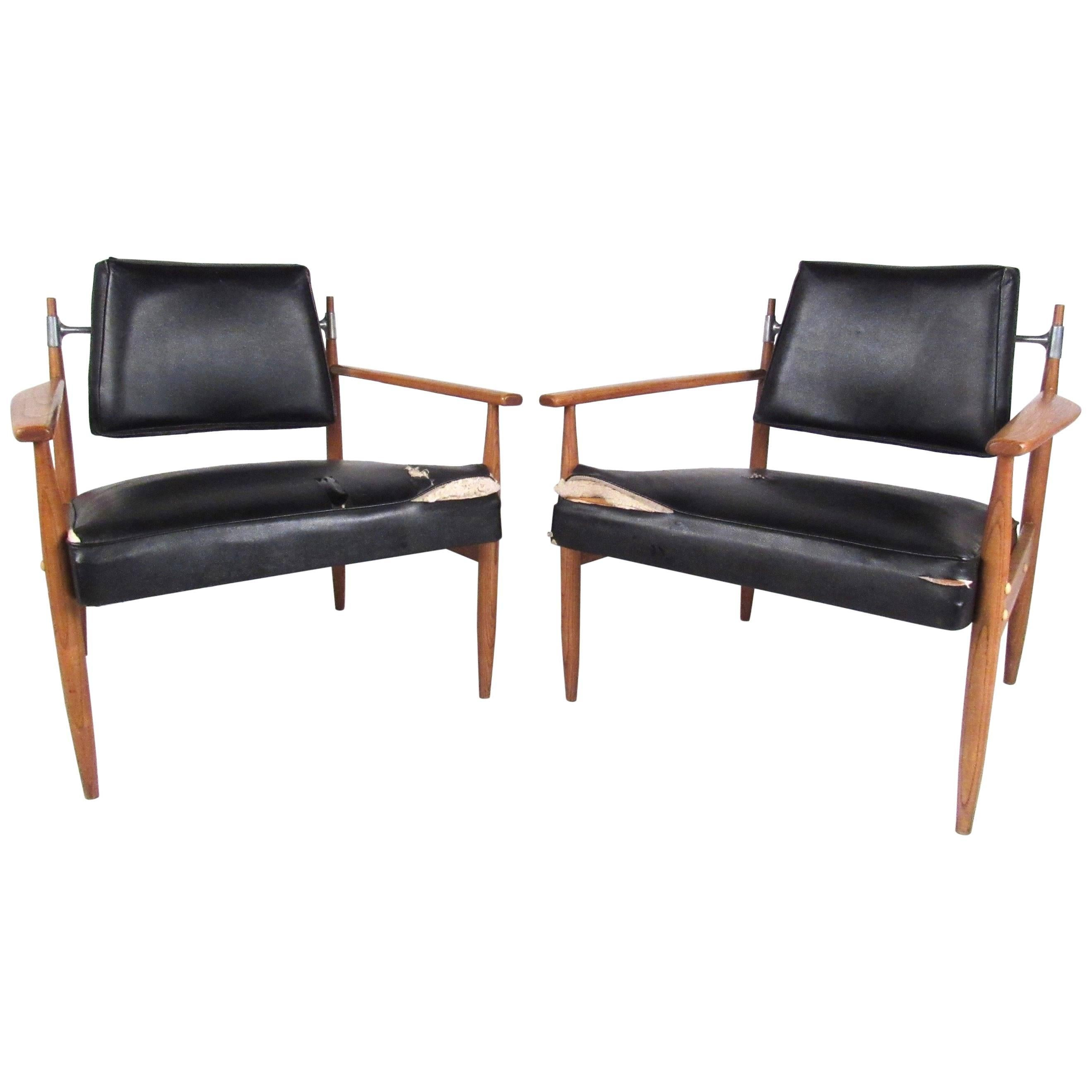 Pair of Midcentury Armchairs by Selrite