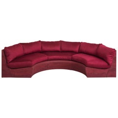 Dream Sofa, Sand, Crushed Glass and Red Cashmere by Fernando Mastrangelo