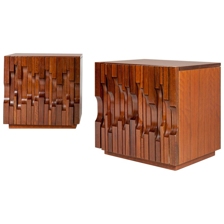 "Pair of Side Tables by Luciano Frigerio Model ""Norman"", Italy, 1970"