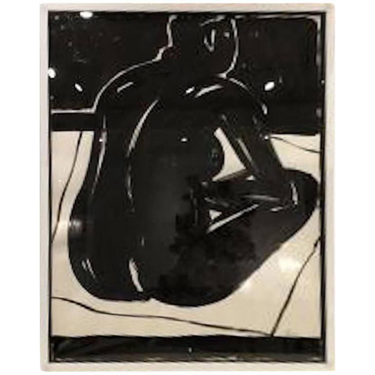 Michael Loew Black Nude Ink Artwork