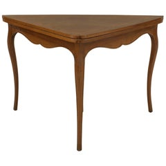 French Provincial Louis XV Style Fruitwood Three Leg Console Table
