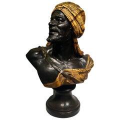 Wilhelm Giesecke Austria Bust in Patinated Bronze, 1914