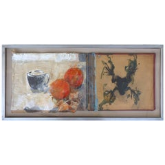 """""""Frog and Oranges"""" by Frederic Amat, Wax, Acrylic and Handmade Paper"""