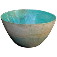 Massive and Rare Bowl of Carved Chrysocolla