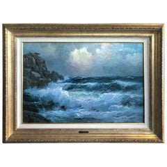 "Seascape Painting ""Heaven and Sea"" by Alexander Dzigurski"