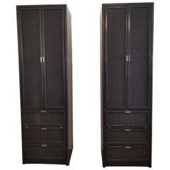 Vintage Bernhardt Bamboo Cabinets