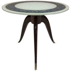 Italian Rosewood Pedestal Side Table
