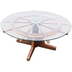 Antique Nantucket Ship's Wheel Dining Table