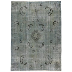 Distressed and Overdyed Vintage Turkish Sivas Rug with Contemporary Style