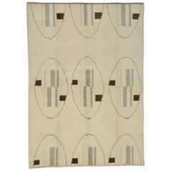 Contemporary Turkish Rug with Modern Bauhaus Design