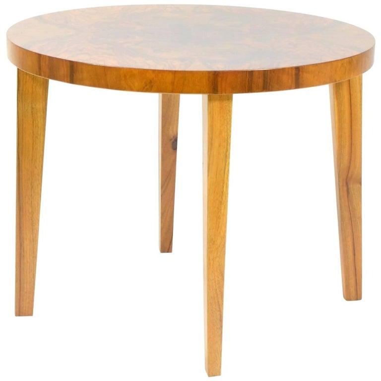 Nut Veneered Coffee Table, 1920s