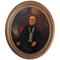 19th Century German Oval Shaped Portrait By P.A. Balmakers (1831-1903)