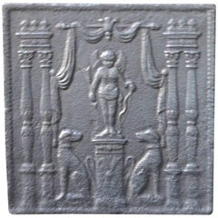 19th Century French 'Cupid with Dogs' Fireback