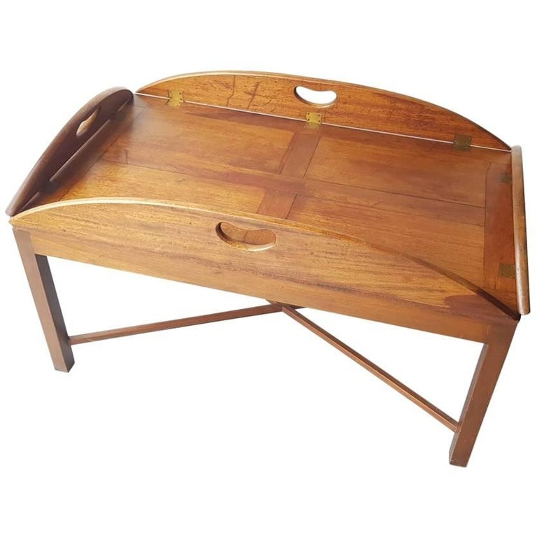 Letterpress Tray Coffee Table: Early 20th Century English Butler Tray Coffee Table At 1stdibs