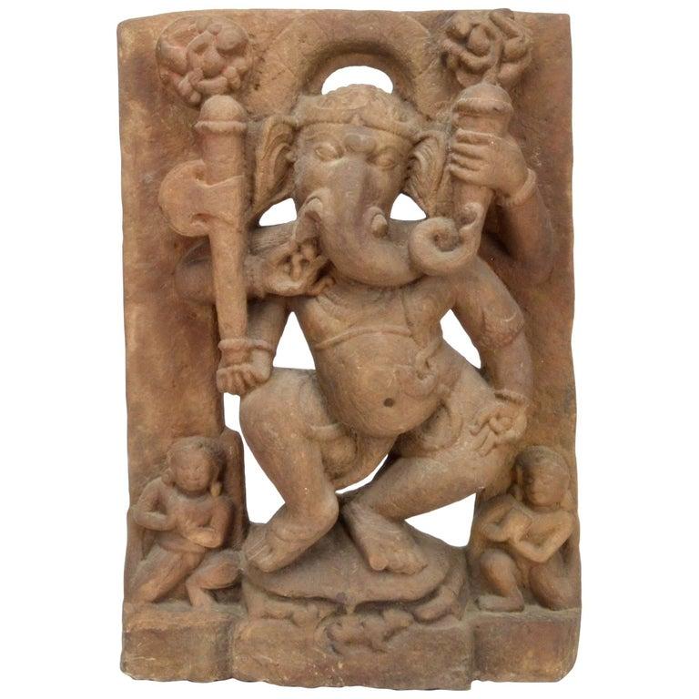 Dancing Cosmic Ganesh Uttar Pradesh, 11th Century For Sale
