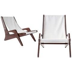 Boomerang Chairs in Jacaranda and Fabric