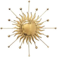 Sputnik Atomic Brass Wall Lamp or Sconce Sunburst, 1960s, Germany
