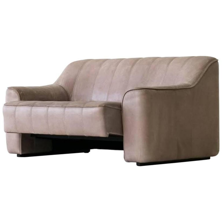 Two-Seat Ds 44 Sofa by De Sede Neck Leather Extendable Seat