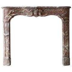 Antique Fireplace of Marble Rance de Belgique