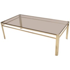 French 1960s Bronze and Glass Coffee Table by Jacques Quinet