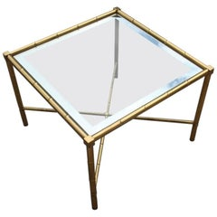 Particular Coffee Table in Solid Brass Design 1970s