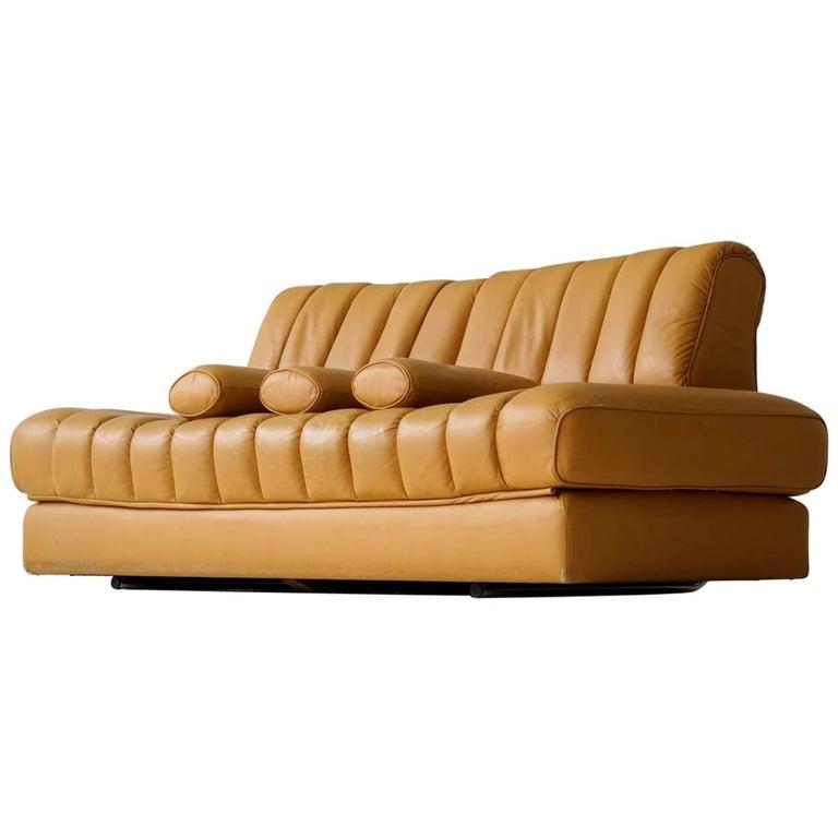 DS 85 De Sede Leather Sofa Daybed Canapé Chaise Longue