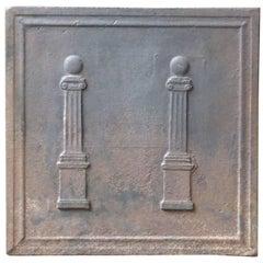 19th Century French 'Pillars' Fireback