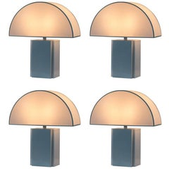 Set of Four Harvey Guzzini Olympe Table Lamps, Italy, 1970s